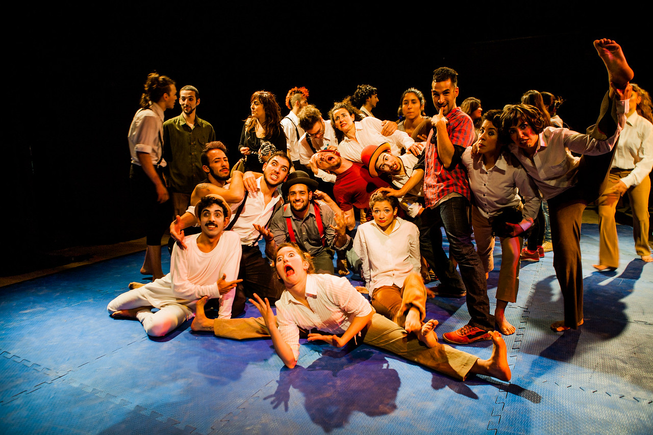 Students of EMAU (Circus school), Rosario, Argentina