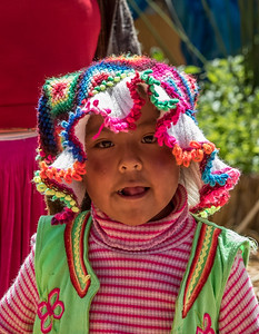 Uros Girl - Lake Titicaca, Peru