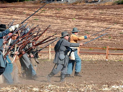 Civil War Confederate Charge Moorpark Ca