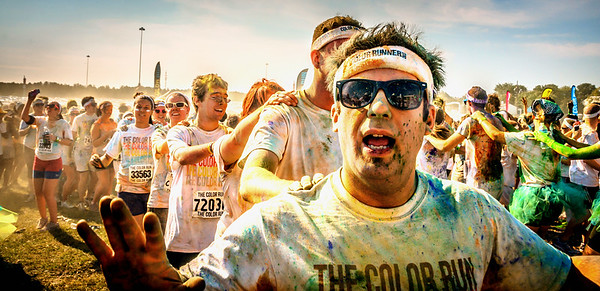 color run conga line