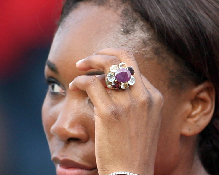 Quite a stone, Venus Williams.