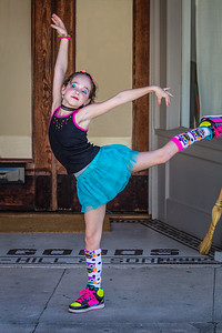 Young Dancer Outside.