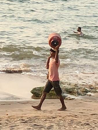 at Anjuna beach