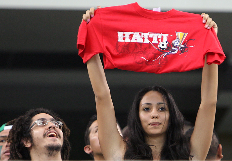 Fan of Haiti during a CONCACAF Gold Cup 2009 Quarter Final match against Mexico at Cowboys Stadium in Dallas, Texas on July 19 2009.