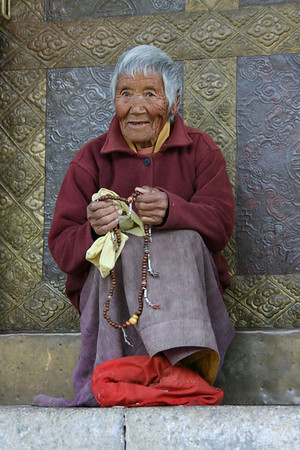 Elderly Bhutanese nun