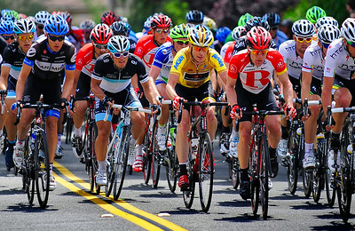 Peloton with Yellow Jersey,  Tour of California Thousand Oaks Ca