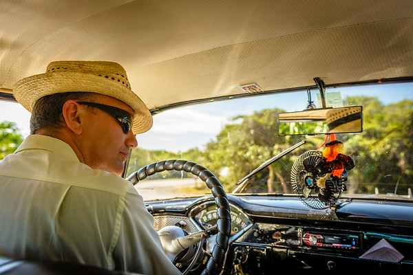 Inside the 55 Chevy Bel Air