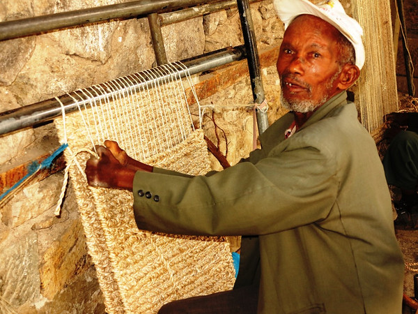 Weaving at Alert Hospital for Lepers Addis Ababa