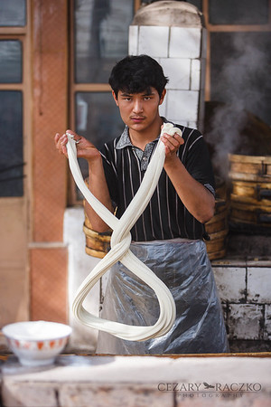 Making Hand-pulled Noodles