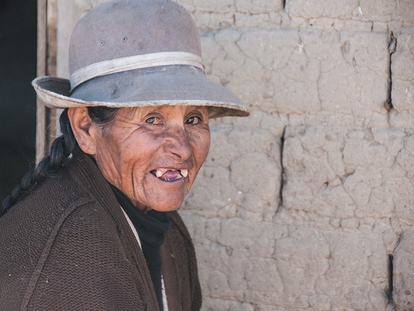Woman in Countryside, Alto Plano, Bolivia