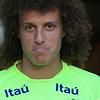 David Luiz sticks his tongue out at me. Very cheeky.