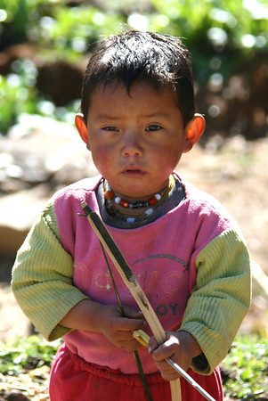 Young Bhutanese archer