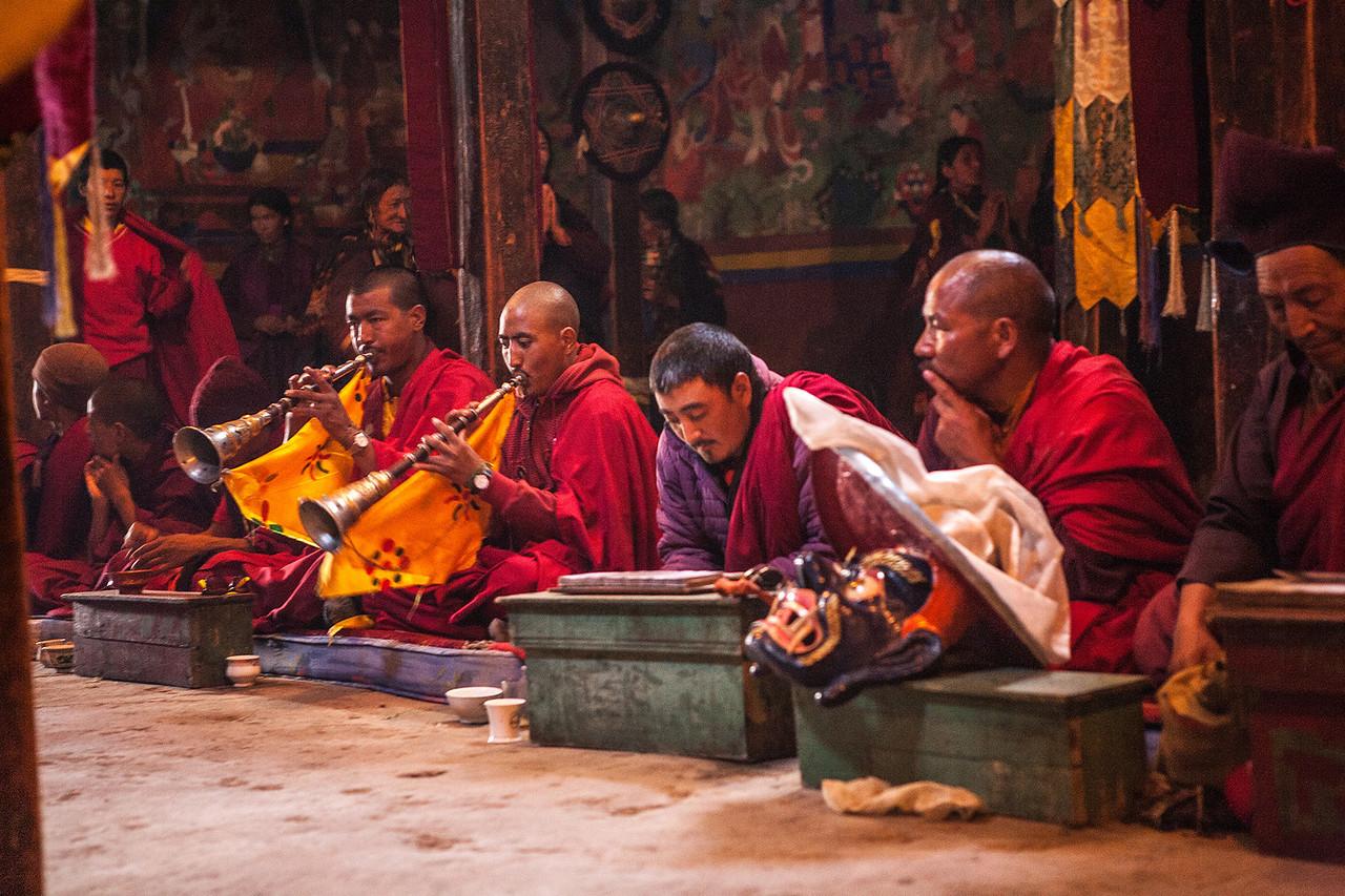 Morning prayers at Sani Monastery in Zanskar, India