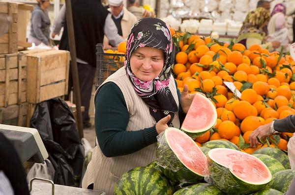Woman Selling Fruit - Fethiye, Turkey