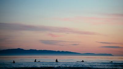 Surfers at Devereux Beach