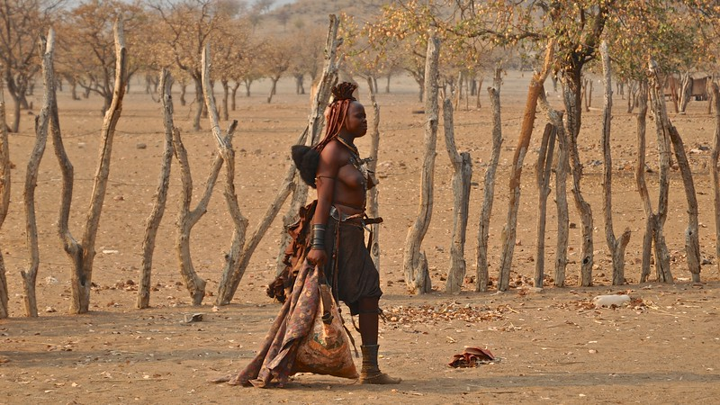 Himba Woman on the catwalk