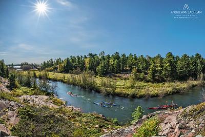 Kayaking the Chikanishing River, Killarney Provincial Park
