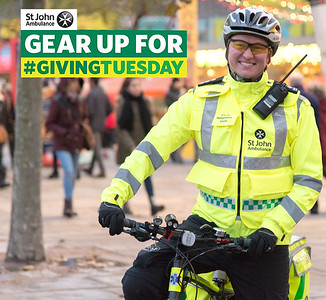 Gear up for #GivingTuesday for St John Ambulance