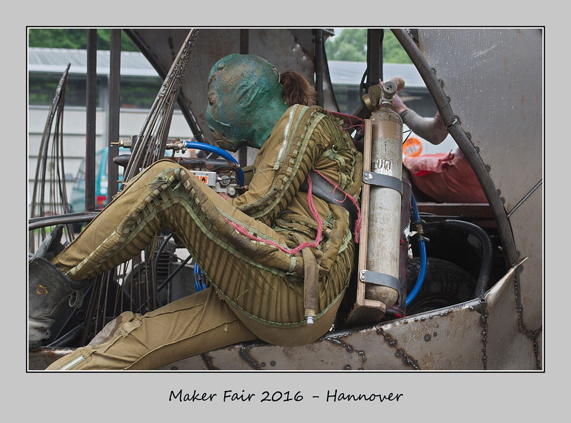 Artist at the Maker Fair 2016 - Hannover