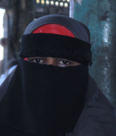 Veiled Woman, Mombasa, Kenya