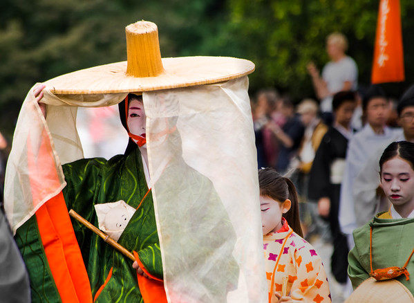 Woman with Veil - Jidai Matsuri Parade - Kyoto, Japan