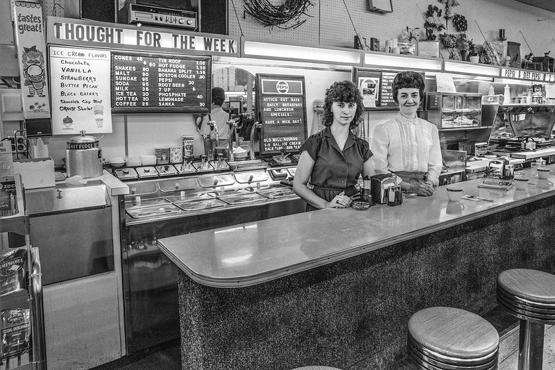 Lunch Counter in Attica, OH.  Love the prices.