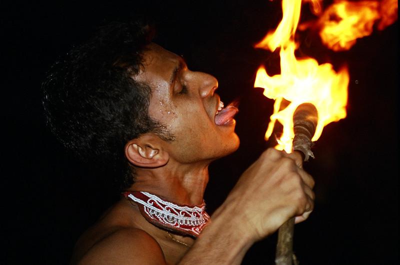 Fire eater, Kandy, Sri Lanka