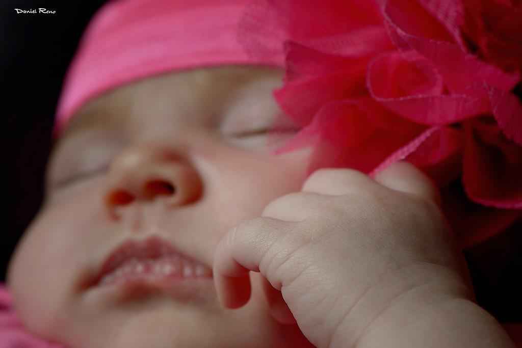 Sleeping in her car seat:)