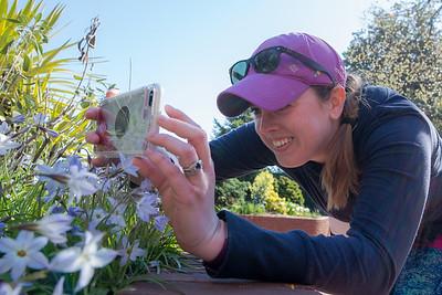 Post-Race Flower Spotting