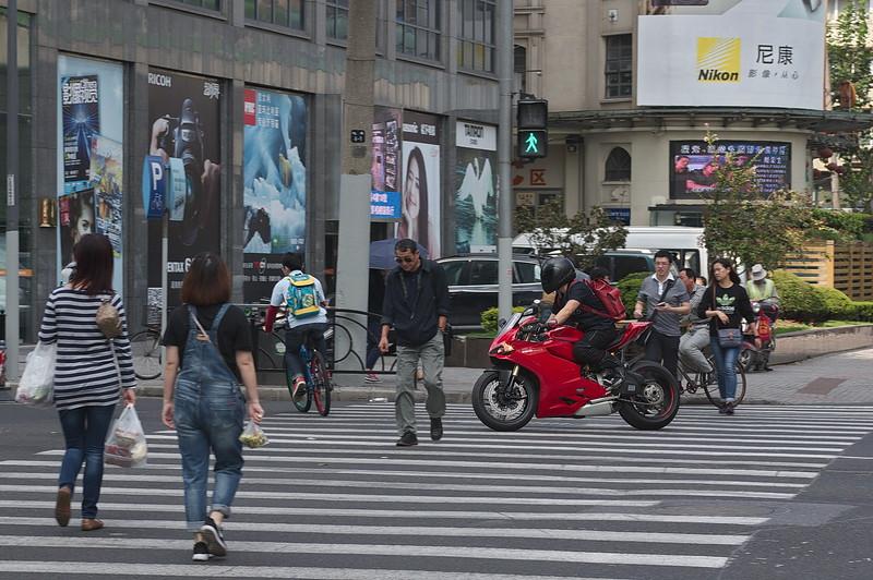Ducati 1199 in Shanghai