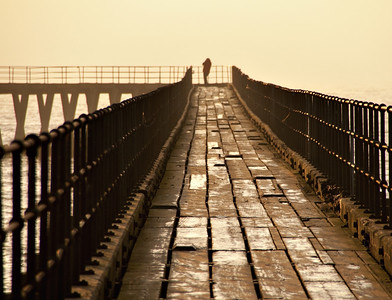 'The man on the pier' taken just down the road from me early one winter's morning
