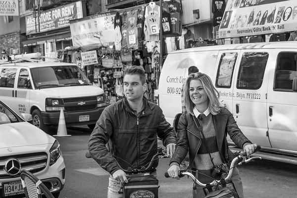Tourists On Bikes - New York, USA
