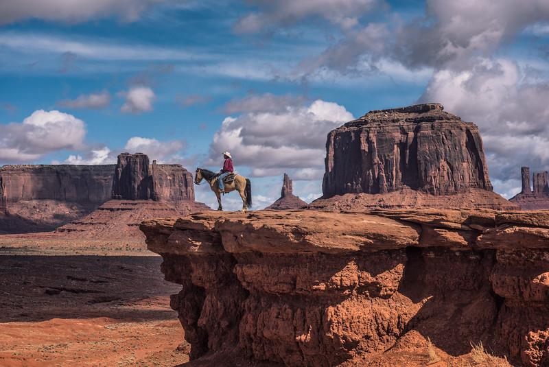 Horseman in Monument Valley, Arizona