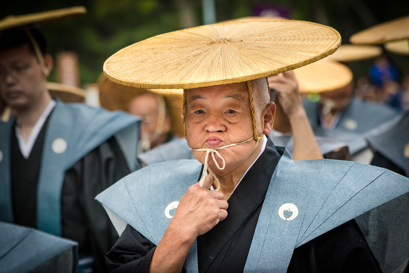 Man Adjusting Drawstring - Jidai Matsuri Parade - Kyoto, Japan