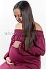 Profile of Attractive Pregnant Woman