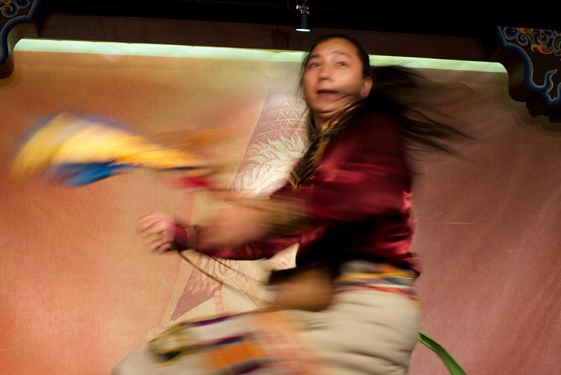 Performer at Makye Ame Tibetan Restaurant in Beijing, China