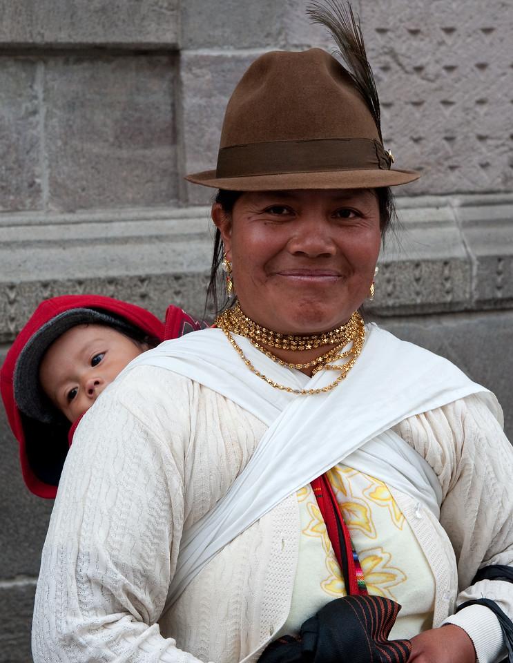 Mother and Child Quito Ecuador