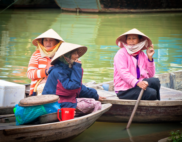 Women in Boats in Viet Nam
