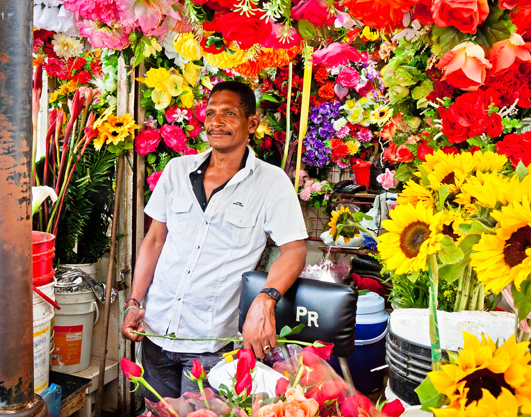 Flower Vendor in Cartagena