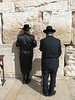 Two Men Praying at Western Wall, Jerusalem, Israel