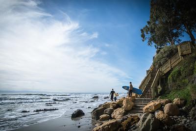 Surfers at Shoreline Park