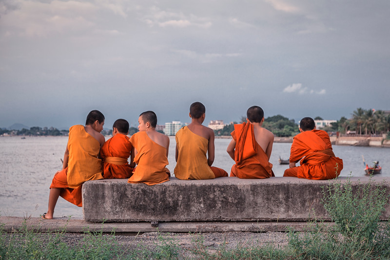Novice Monks at Jittapawan College, Chonburi, Thailand