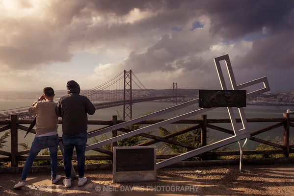 Looking out over the banks of the Tejo river, Lisbon