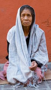 Elderly woman Guanajuato Mexico