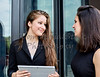 Two Career Women having a Meeting