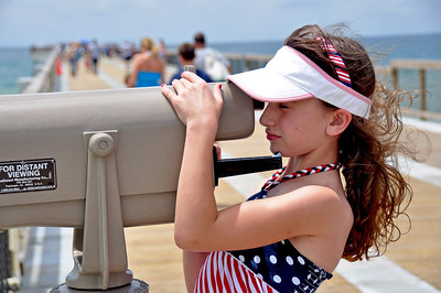Girl with Telescope. Navarre Fishing Pier, Navarre Beach, FL.
