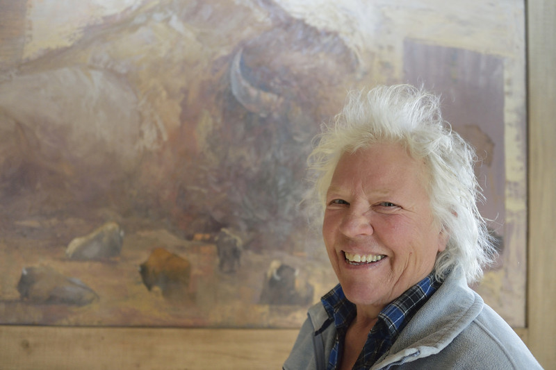 Wildlife Artist and Painter Mary Roberson, Jackson, Wyoming
