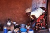 Acholi Woman Washing Dishes, Mbuya Slum, Kampala, Uganda