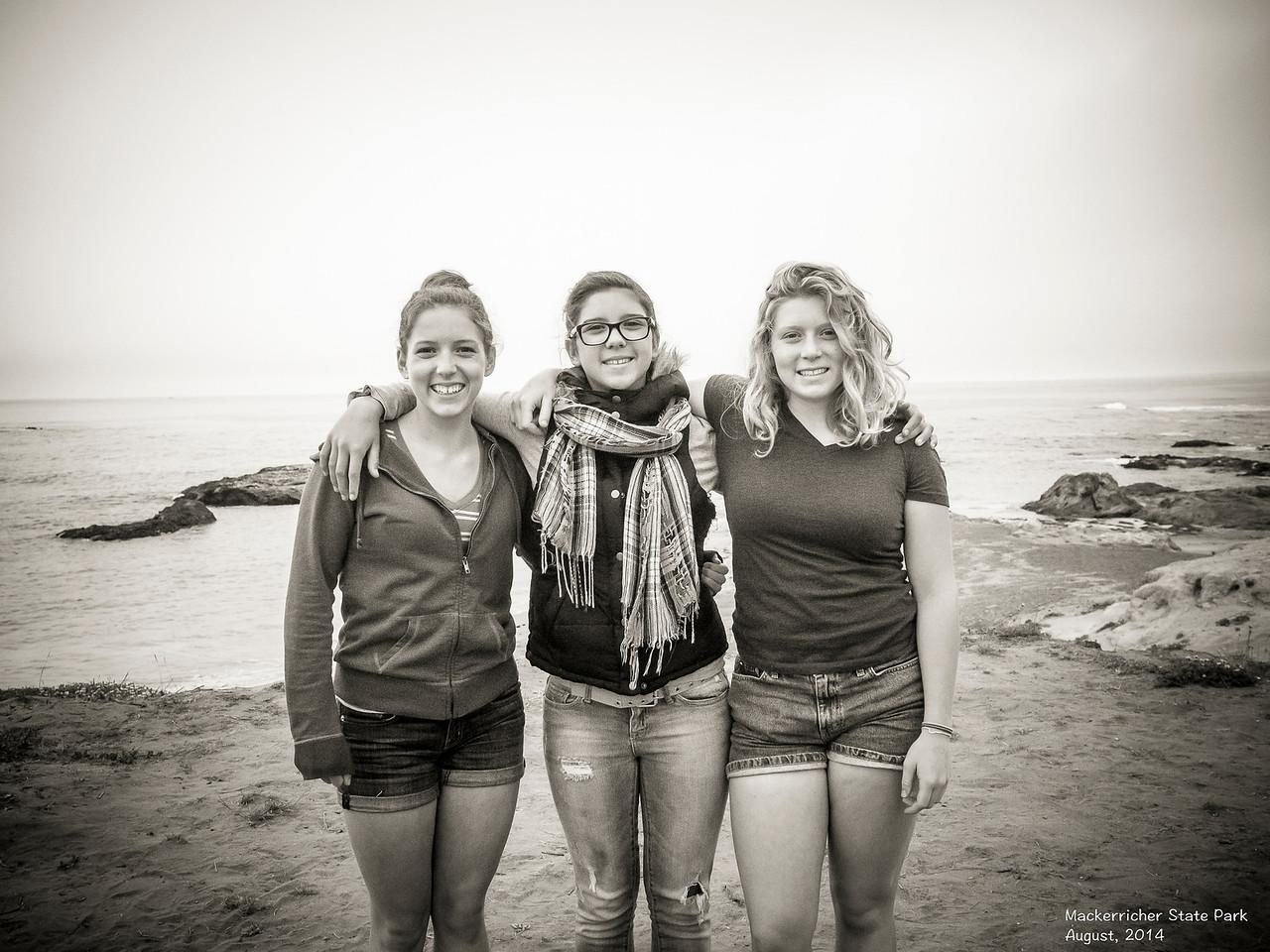 Sisters - MacKerricher State Beach, August, 2014