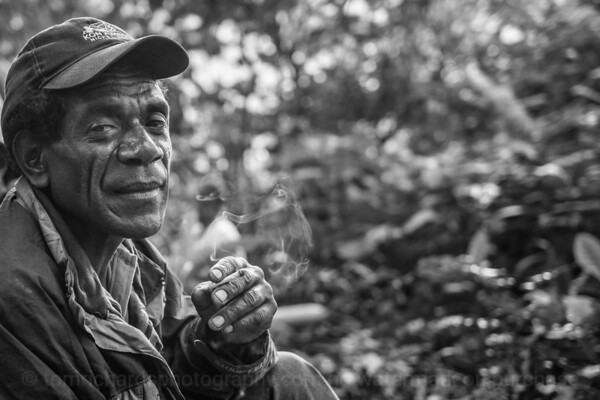 Vanuatu, Tanna, Middle Bush, Man Smoking